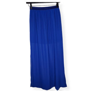 Divided by H&M Blue Maxi Skirt Size 4